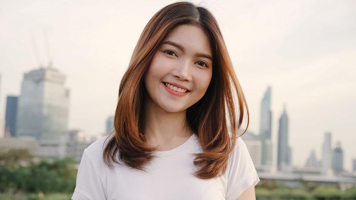 young beautiful Thai woman