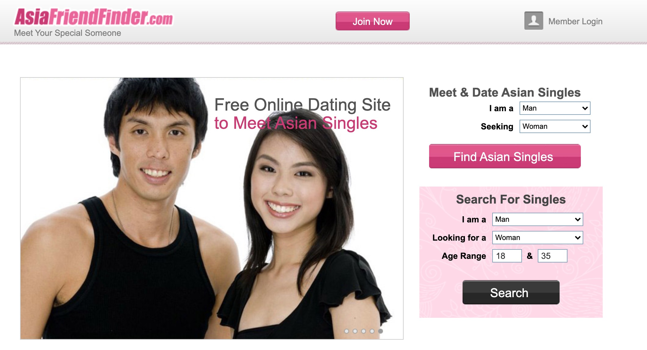 AsianFriendFinder main page_